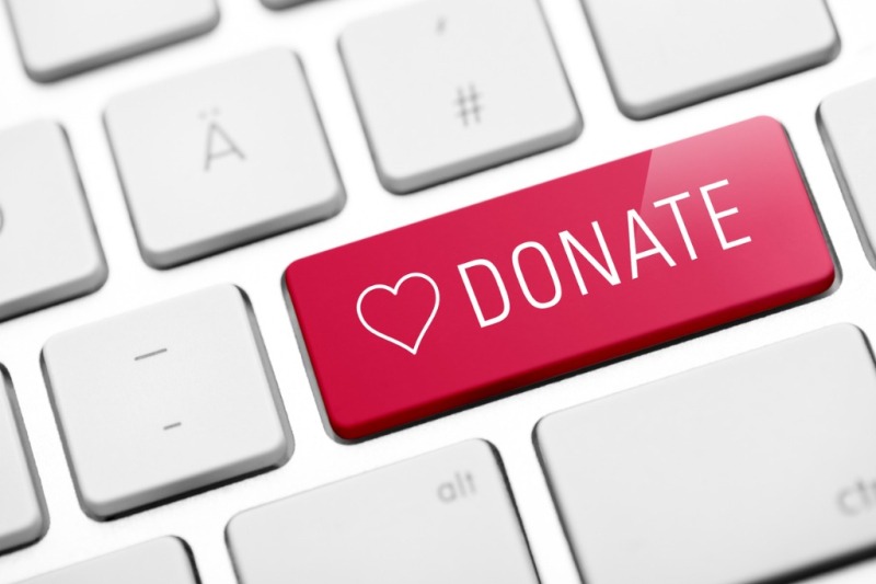 Online-donate-key-on-keyboard-picture-id488493770